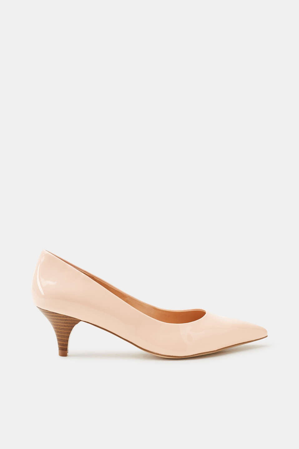 Esprit ESPRIT Veganer Pumps in Lack-Optik, natur, NUDE