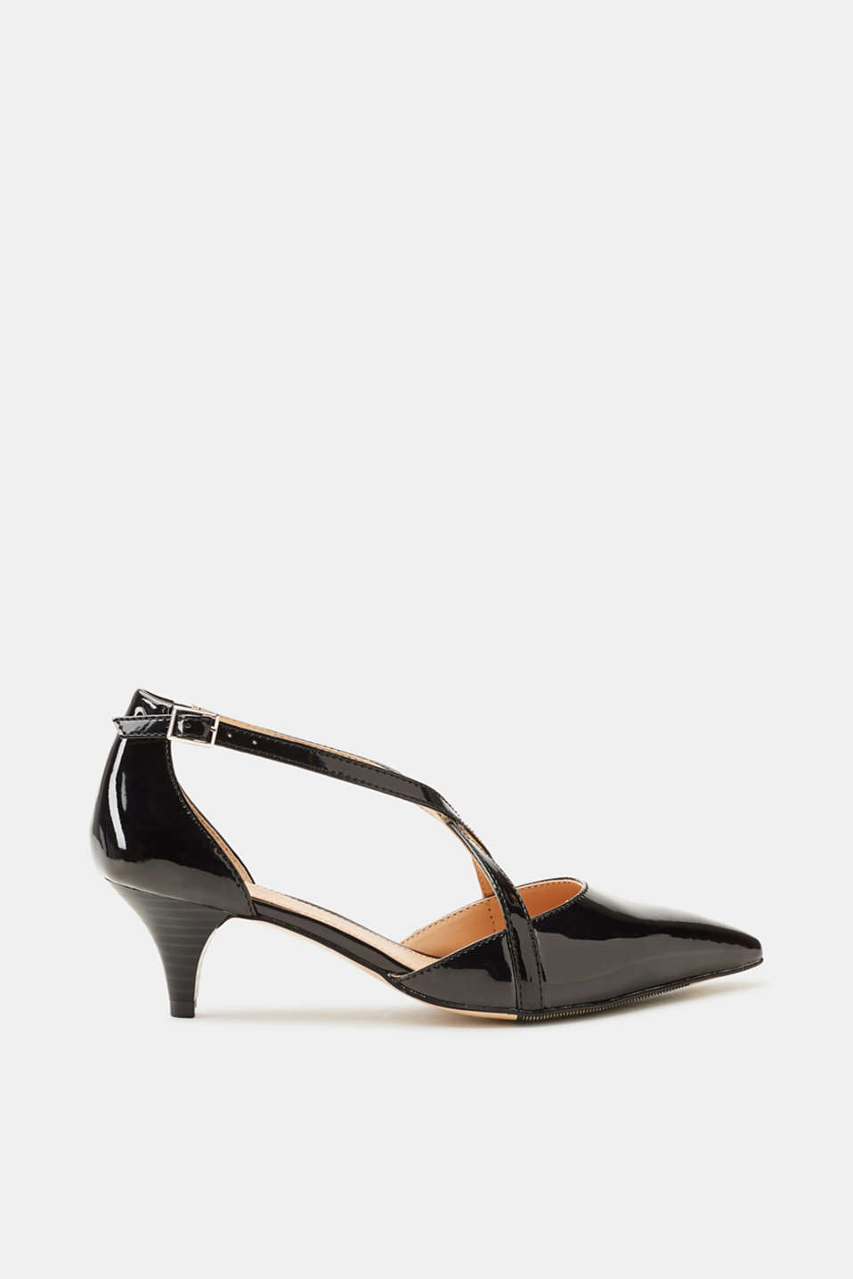 Esprit - Vegan court shoes in a patent leather look