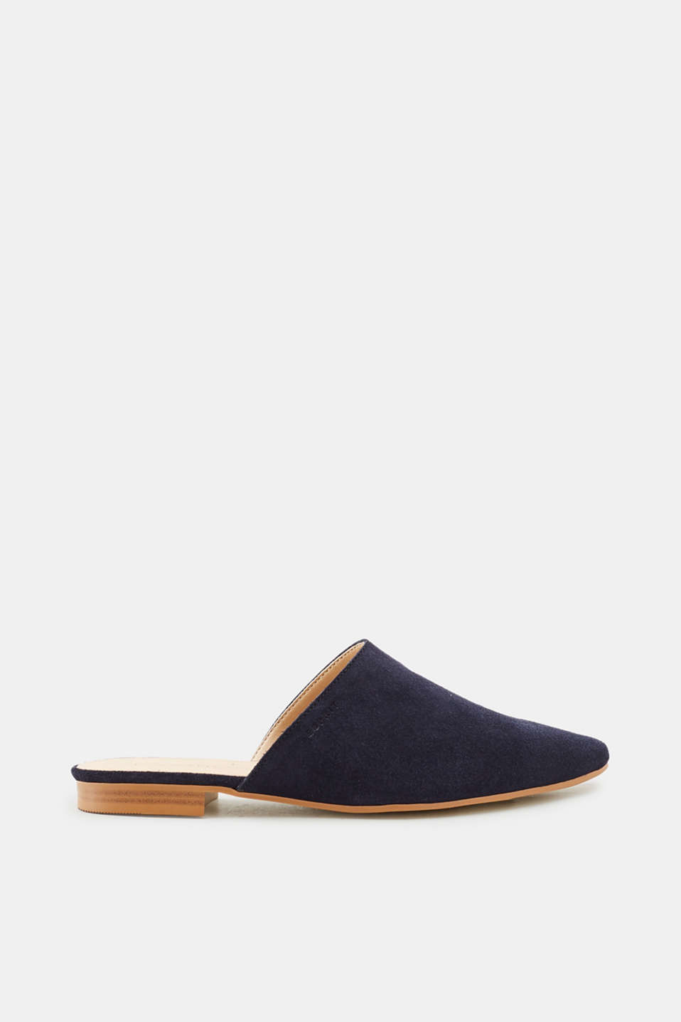 Esprit - Suede slip-ons with a pointed toe