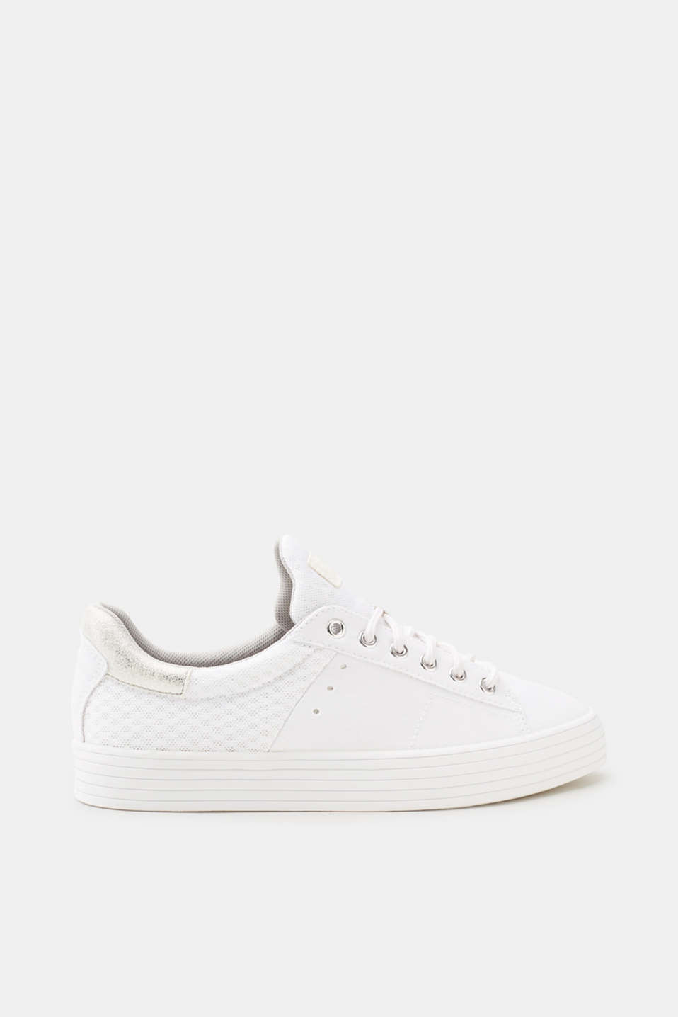 Esprit - Sneakers da allacciare in materiale misto di tendenza