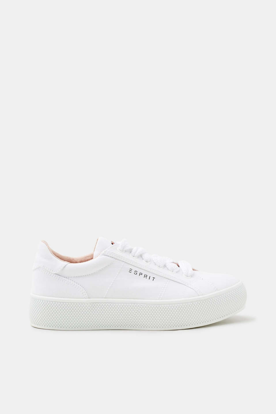 Esprit Plateau-Sneaker in Denim-Optik für Damen, Größe 39, Old Pink