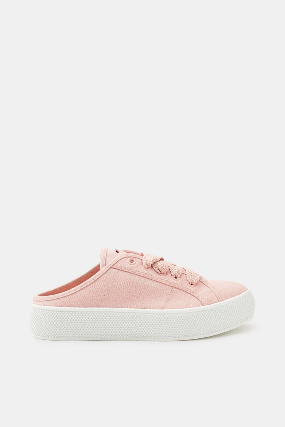 Esprit - Cotton canvas slip-on trainers