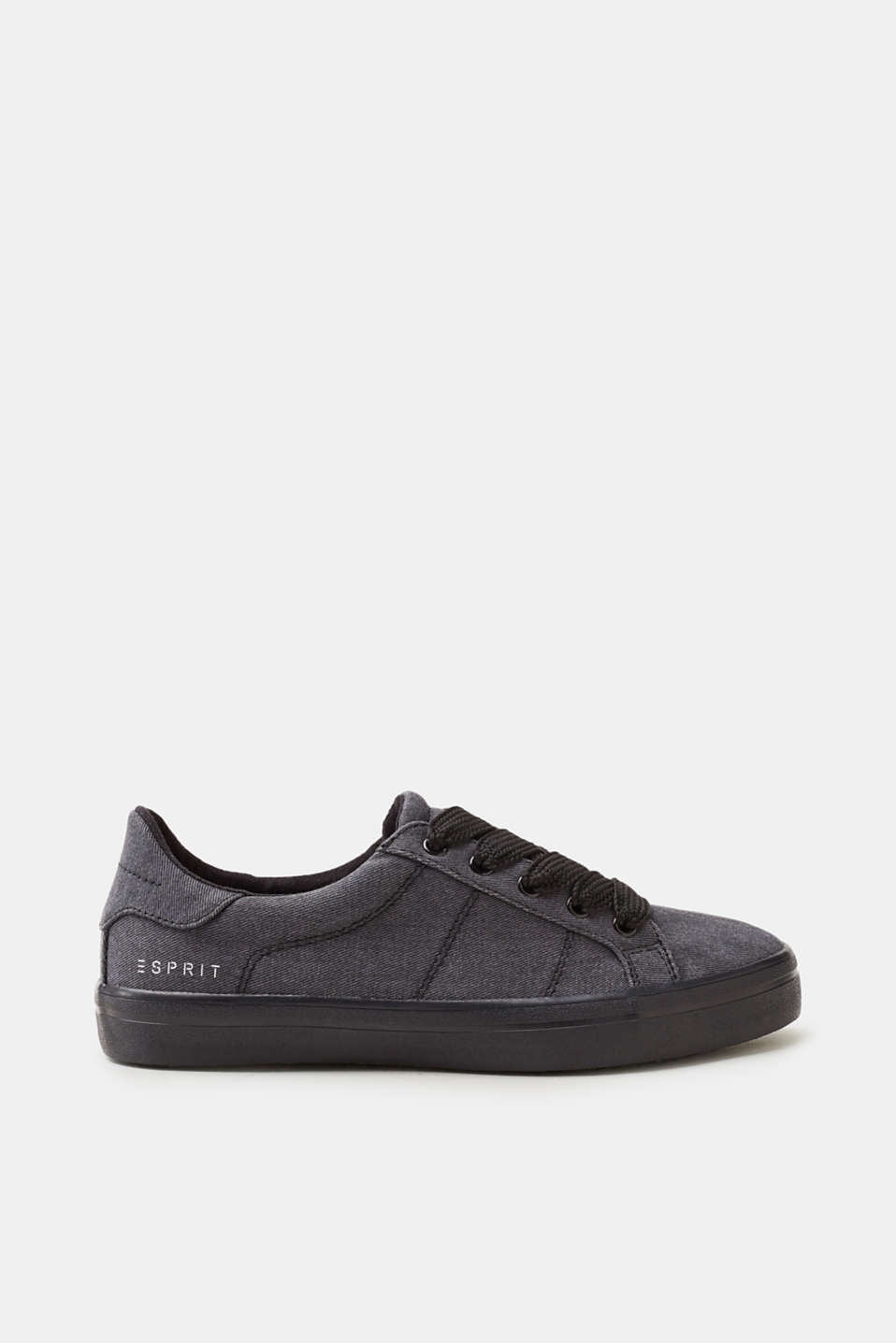 Esprit - Textile trainers with striking shoelaces