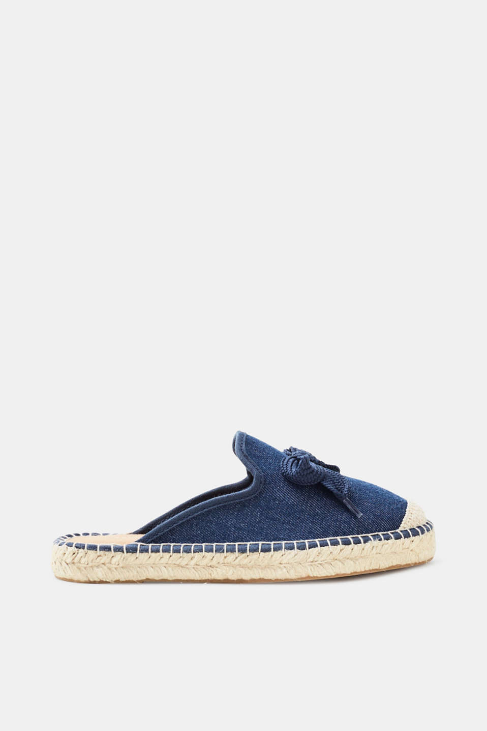Esprit Espadrilles-Slipper in glatter Leder-Optik für Damen, Größe 36, Blue