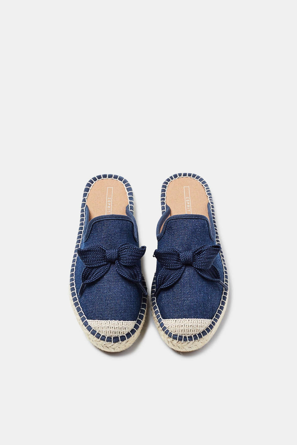 Espadrillos-slippers i denim