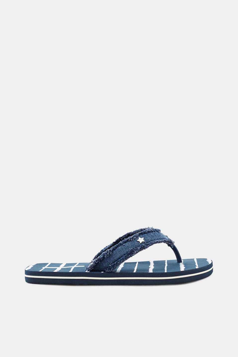 Esprit - Toe-post sandals with denim straps