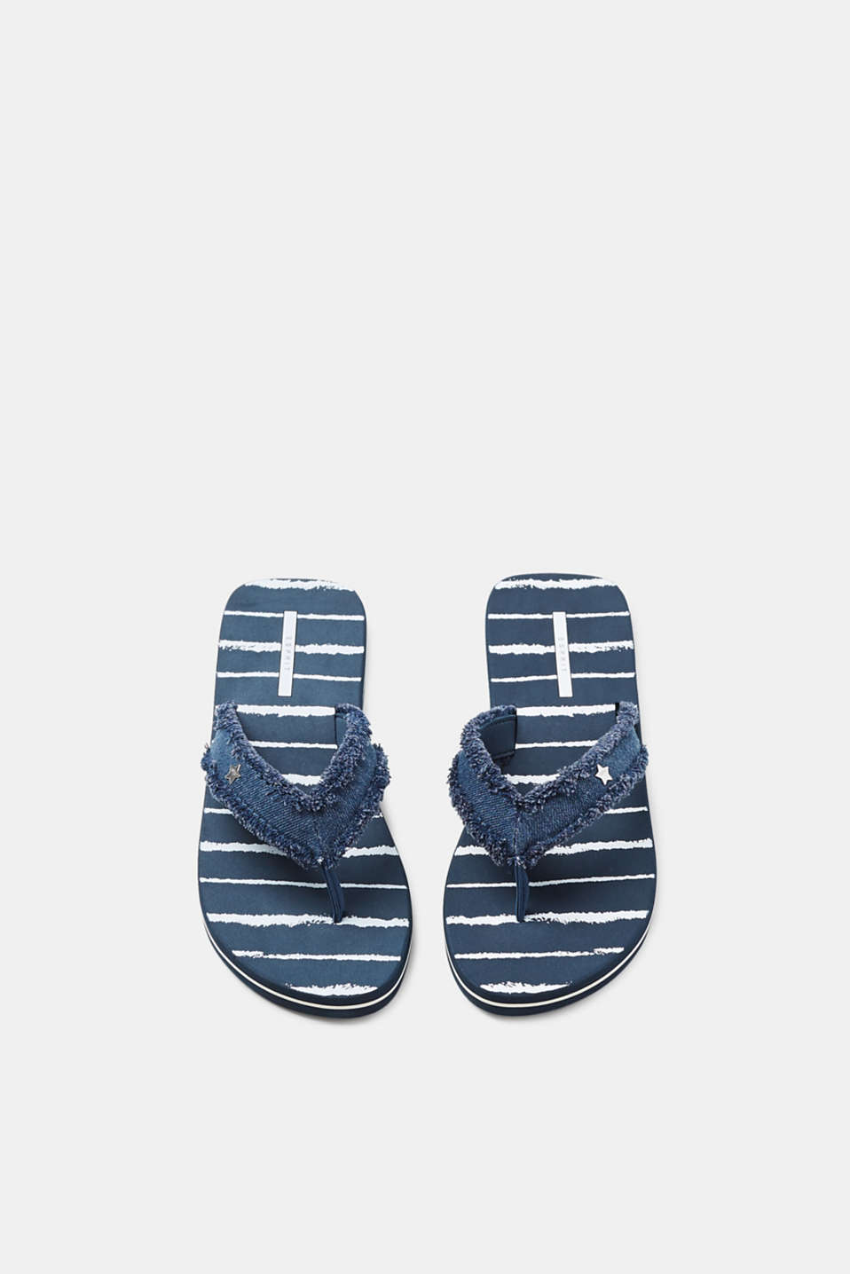 Toe-post sandals with denim straps