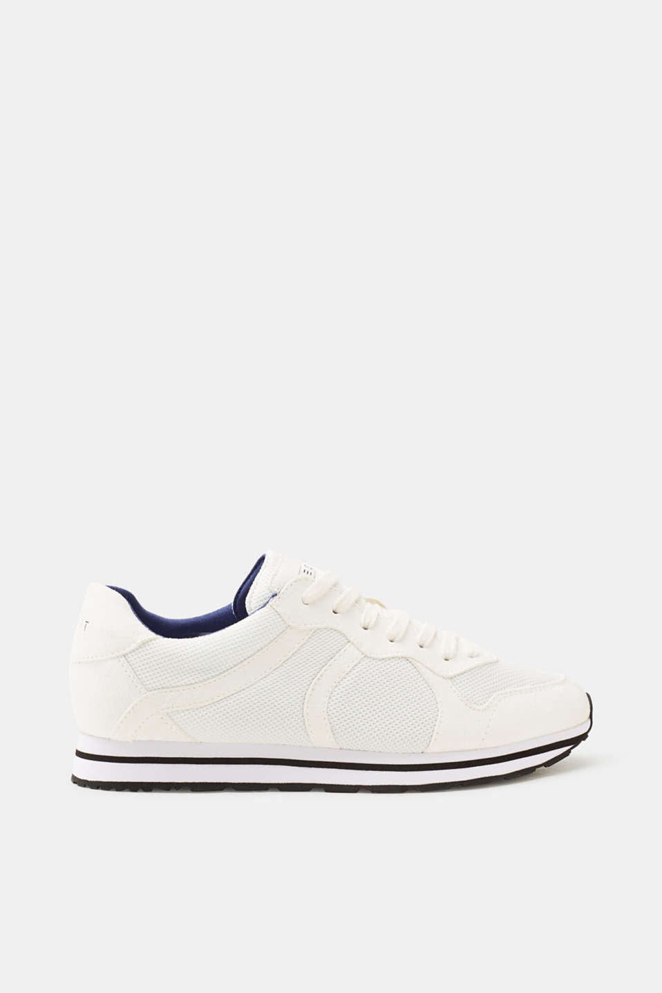 Esprit - Sporty sneakers i coolt materialemiks
