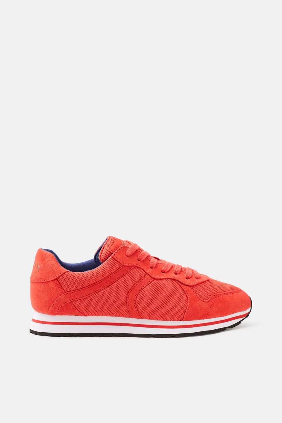 Esprit Sportiver Sneaker im coolen Material-Mix für Damen, Größe 37, Bright Blue