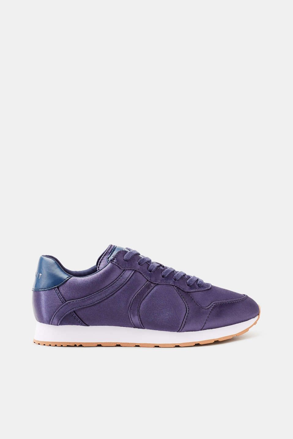 Esprit - Lace-up trainers with a fine shimmer