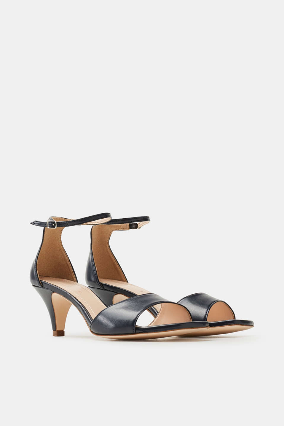 smooth faux leather sandals