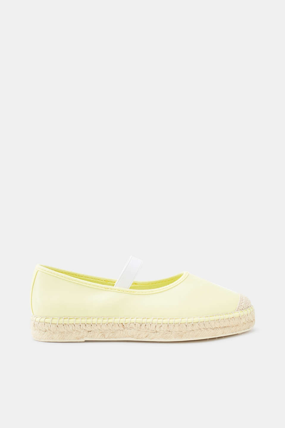 Esprit - Slip-on espadrilles in a smooth faux leather