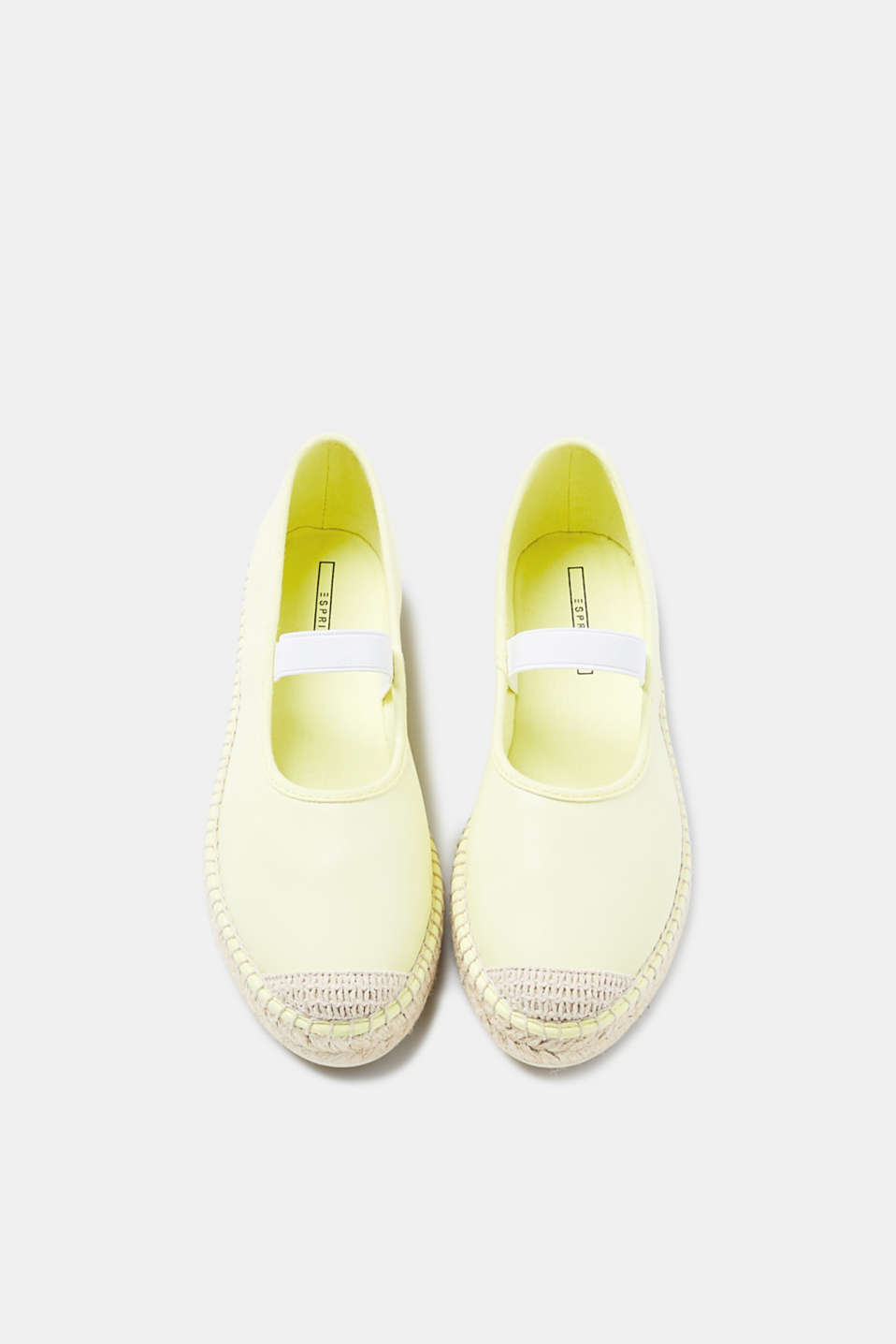 Slip-on espadrilles in a smooth faux leather