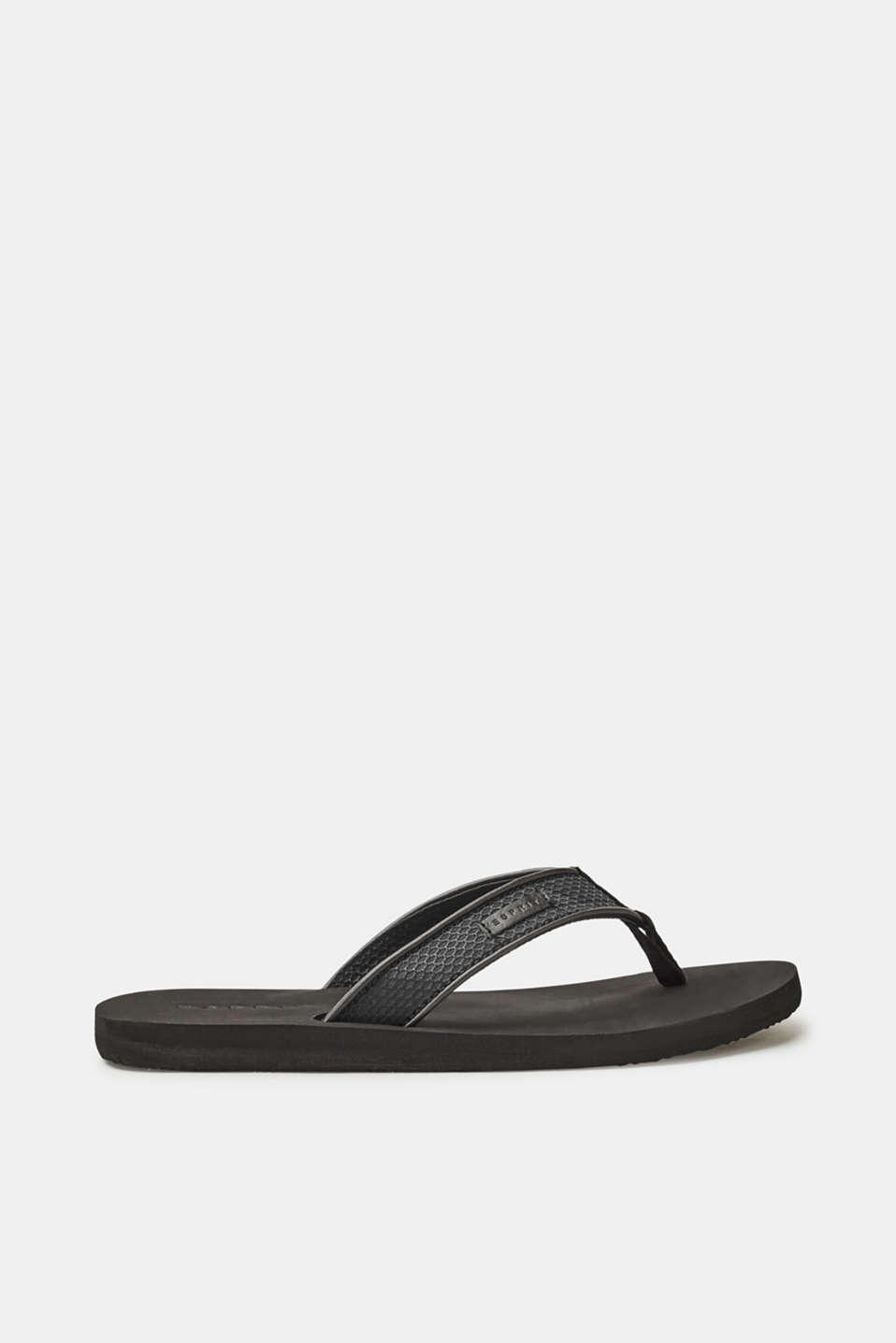 Esprit - Toe-post sandals with wide, textured straps
