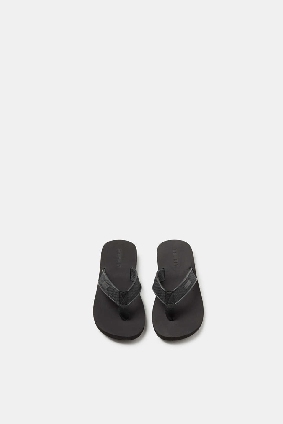 Toe-post sandals with wide, textured straps