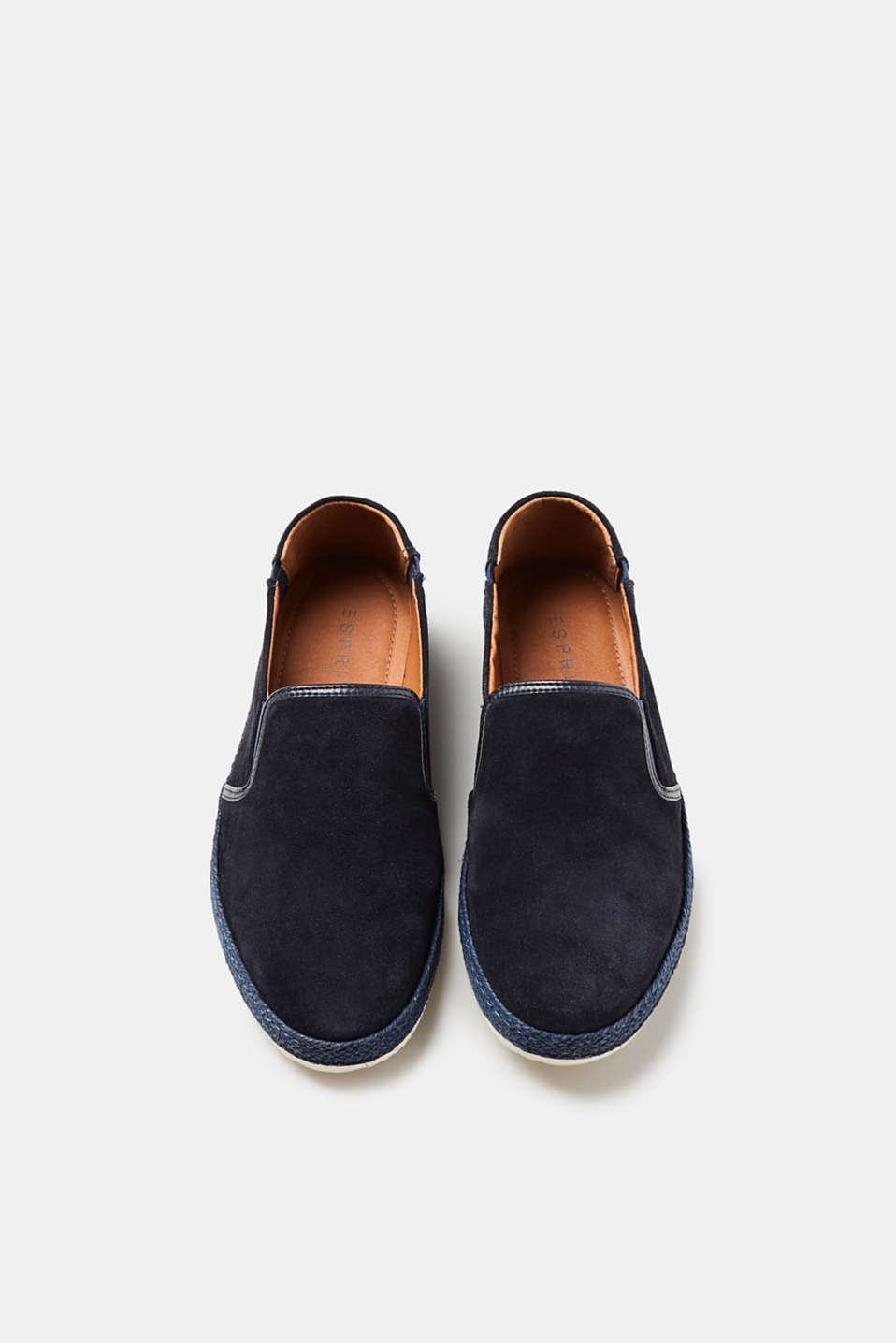 Summery suede loafers