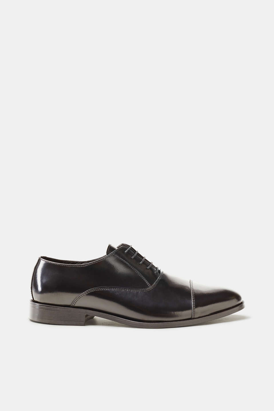 Esprit - Modern business lace-ups in polished leather