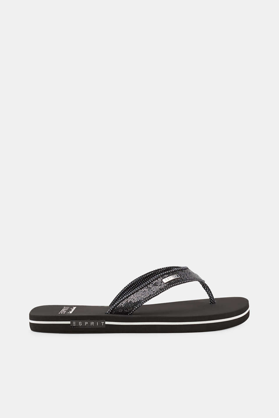 Esprit - Toe-post sandals with shimmering straps