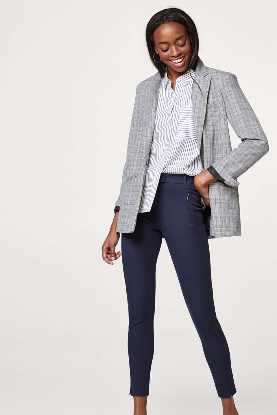 Esprit - Pantalon modelant au look intemporel
