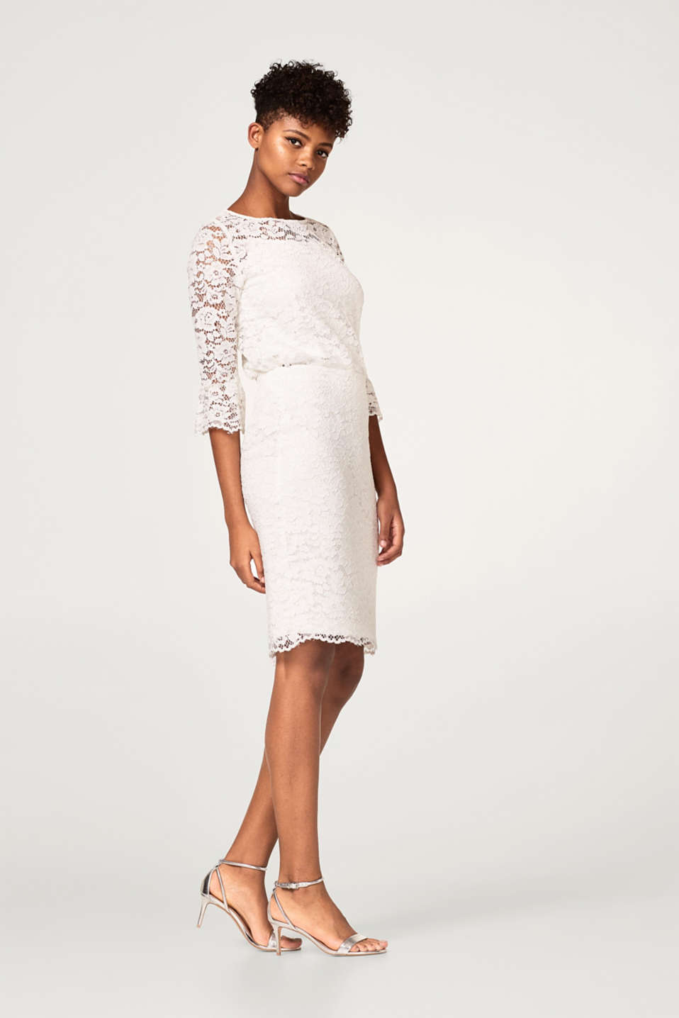 Esprit - Sheath skirt in floral lace