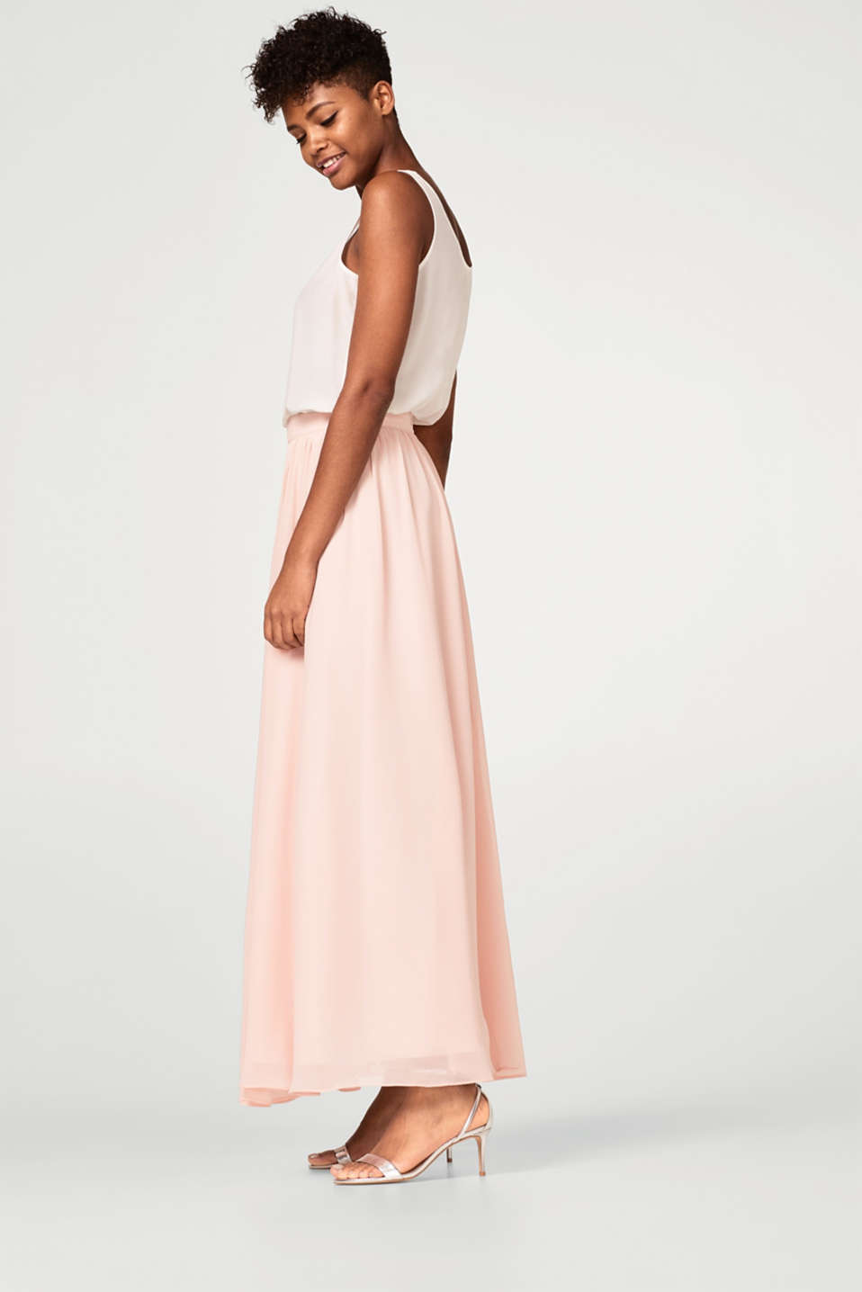 Esprit - BRIDAL mix + match maxi skirt in crêpe chiffon