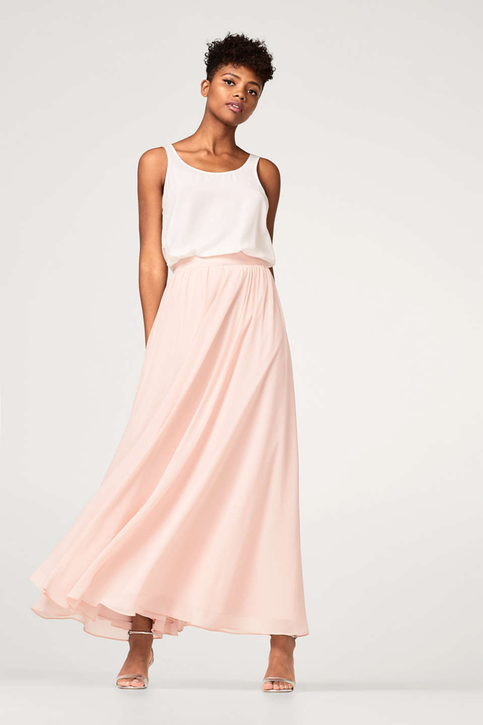 BRIDAL mix + match maxi skirt in crêpe chiffon