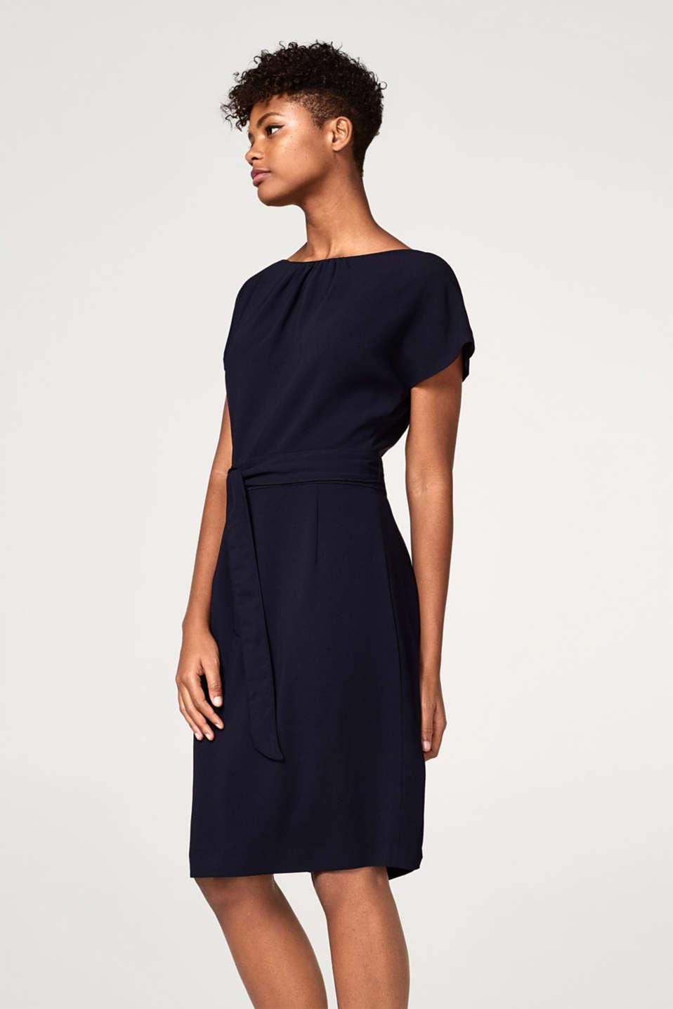 esprit elegantes kleid mit bindeg rtel im online shop kaufen. Black Bedroom Furniture Sets. Home Design Ideas