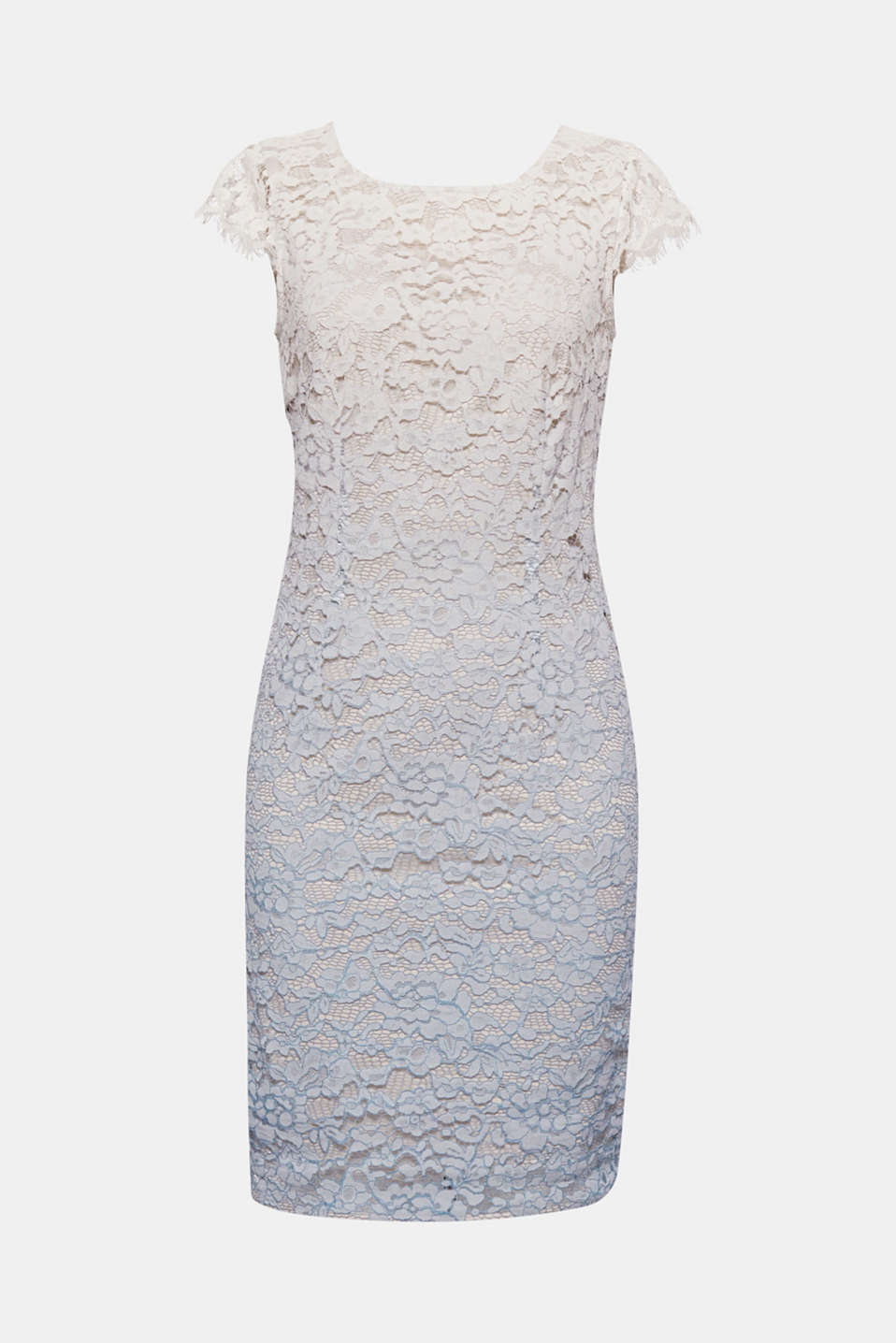This fitted lace dress in a degradé look perfectly skims your figure!