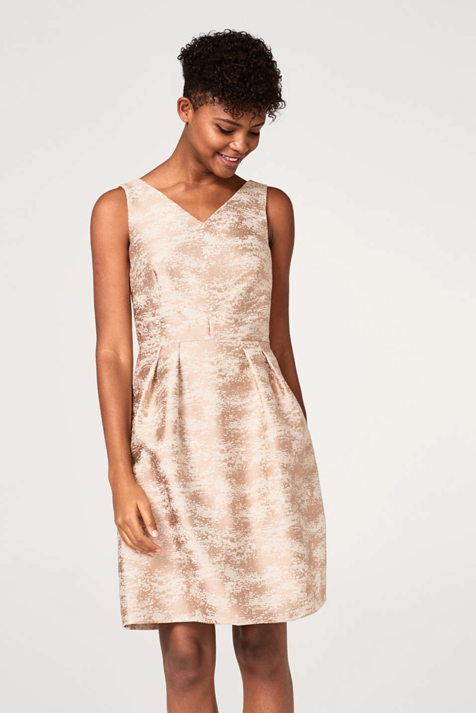 Esprit - Textured jacquard dress