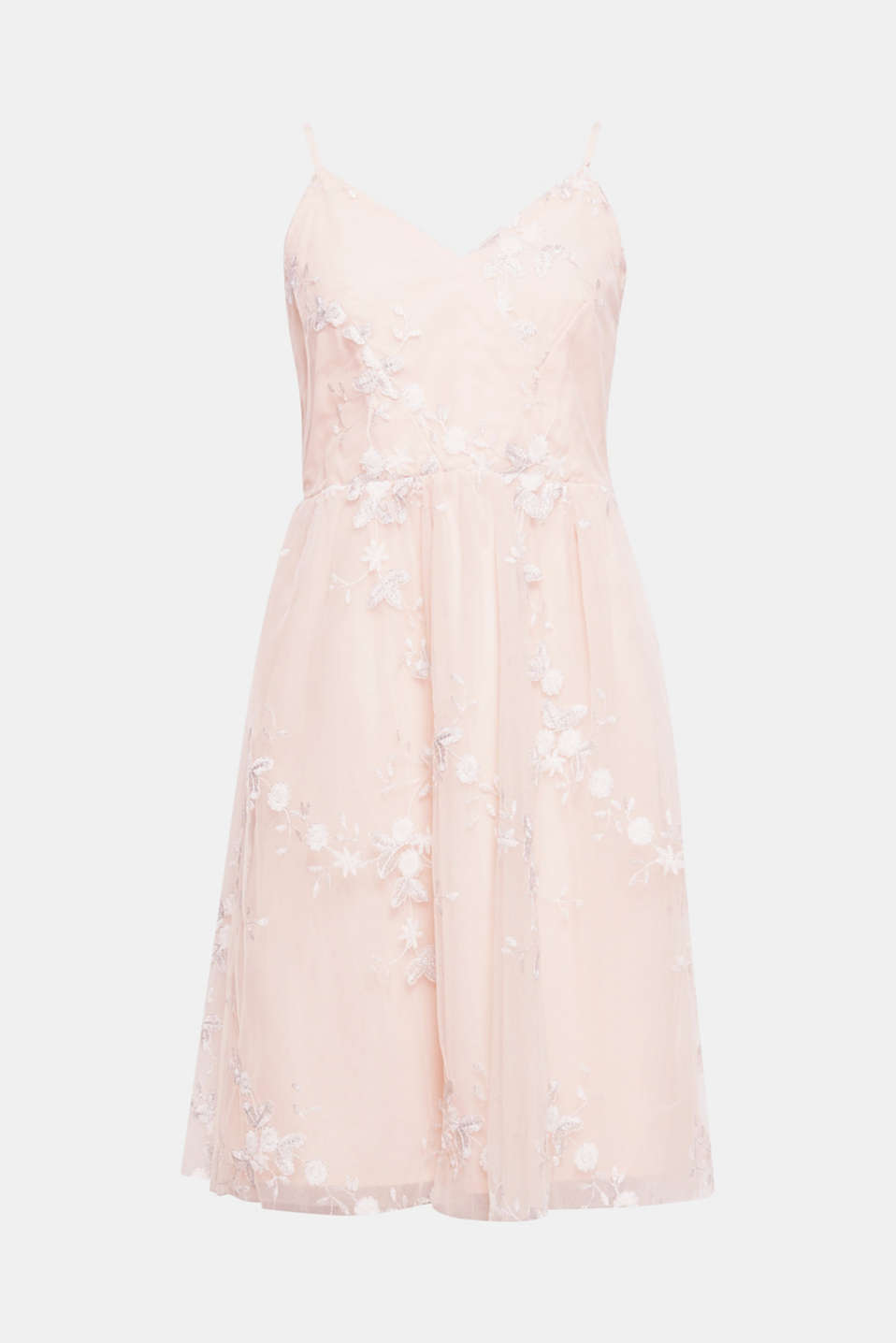 Say YES to this feminine tulle dress with romantic floral embroidery to guarantee a perfect look.