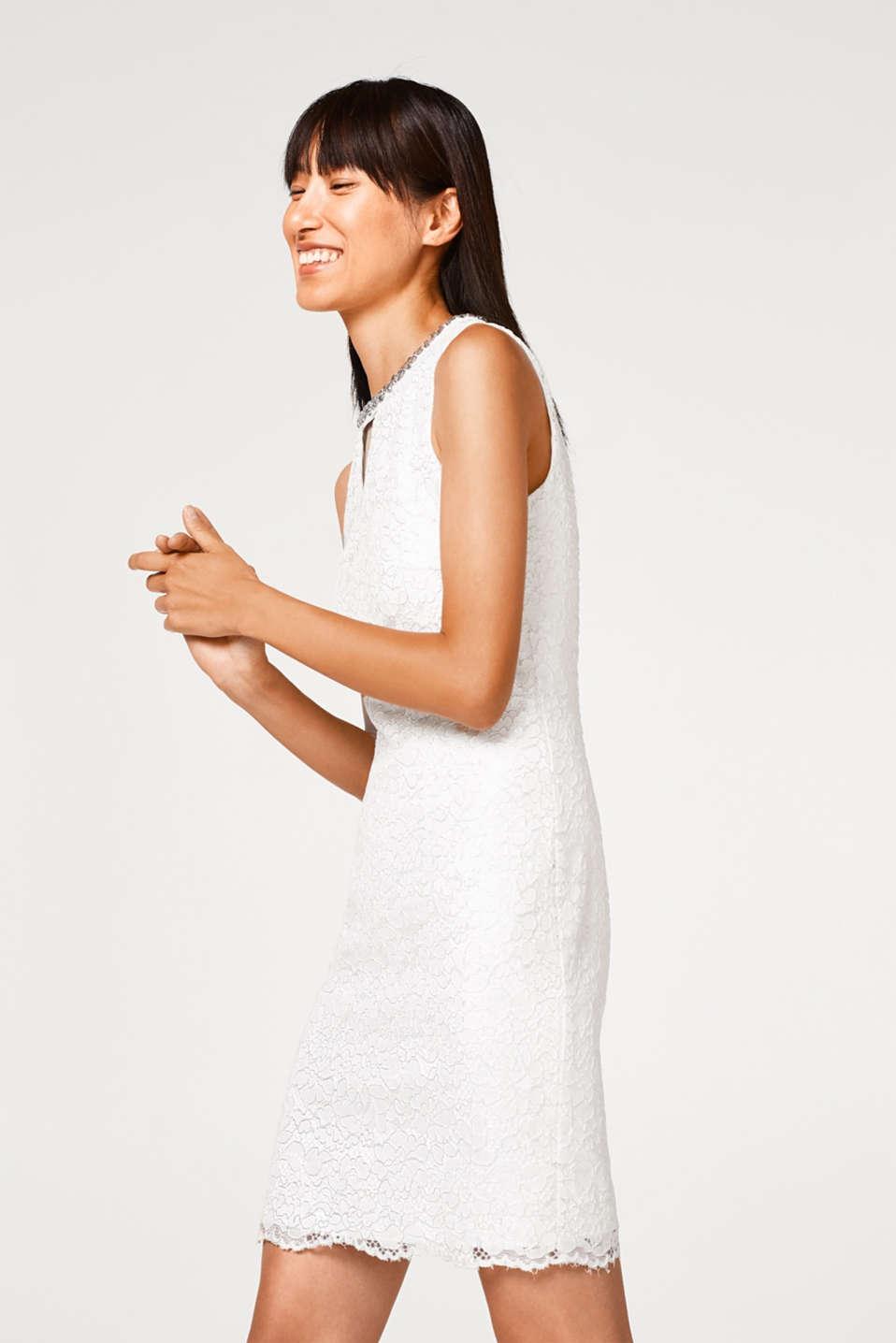 Esprit - Brautkleid aus Spitze mit Schmucksteinen im Online Shop kaufen