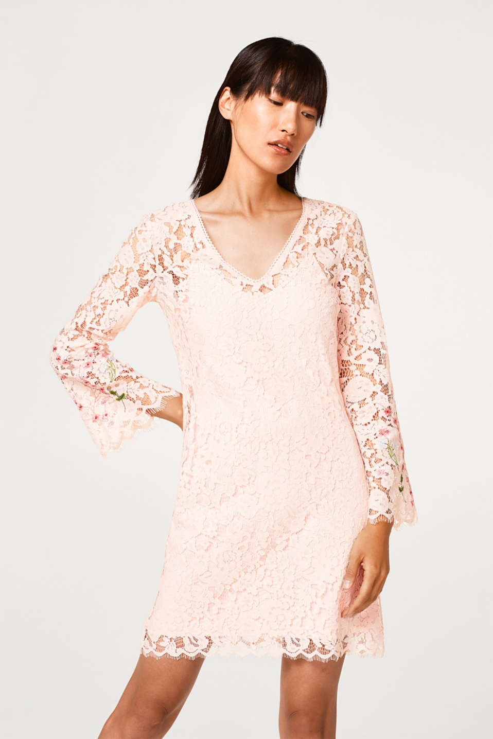 Esprit - Lace dress with jersey lining