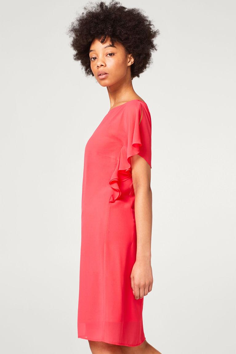 Zartes Chiffon-Kleid mit Flügelärmeln