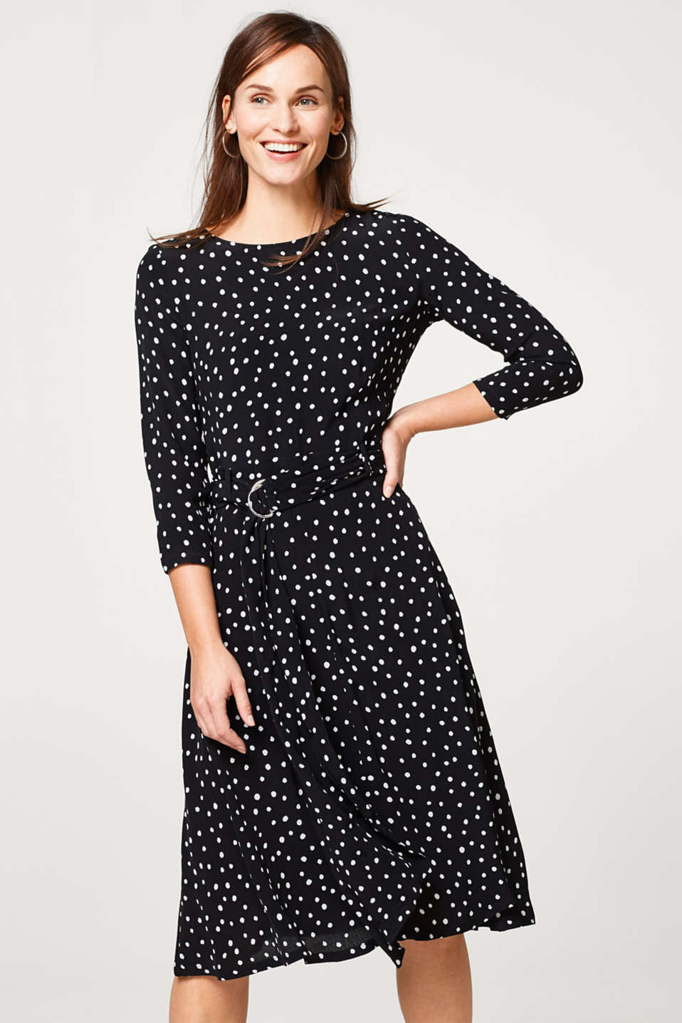 Esprit - Whimsical dress with polka dots