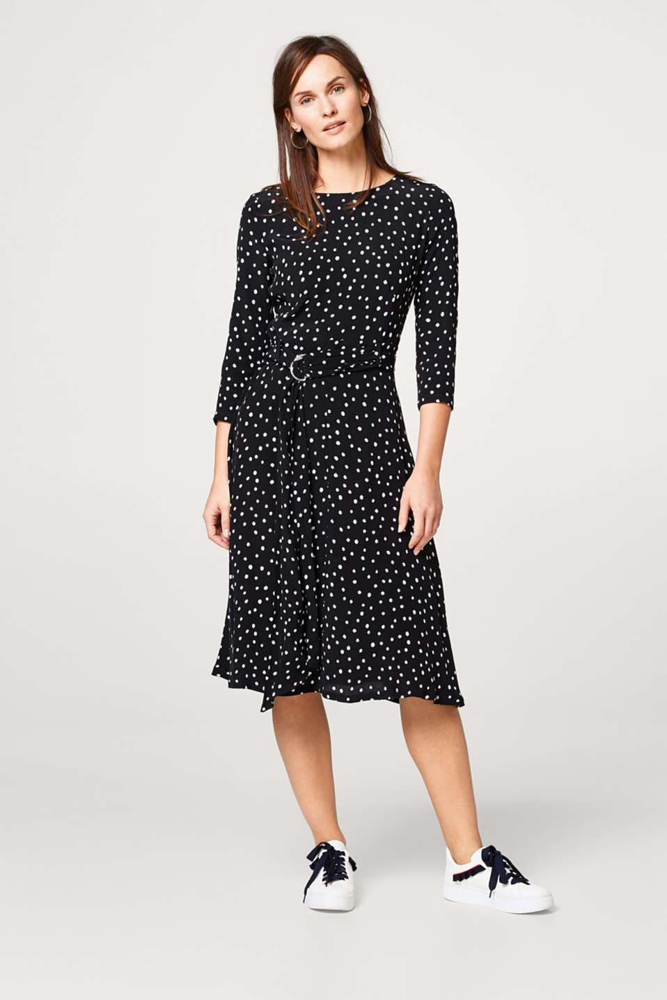 Whimsical dress with polka dots