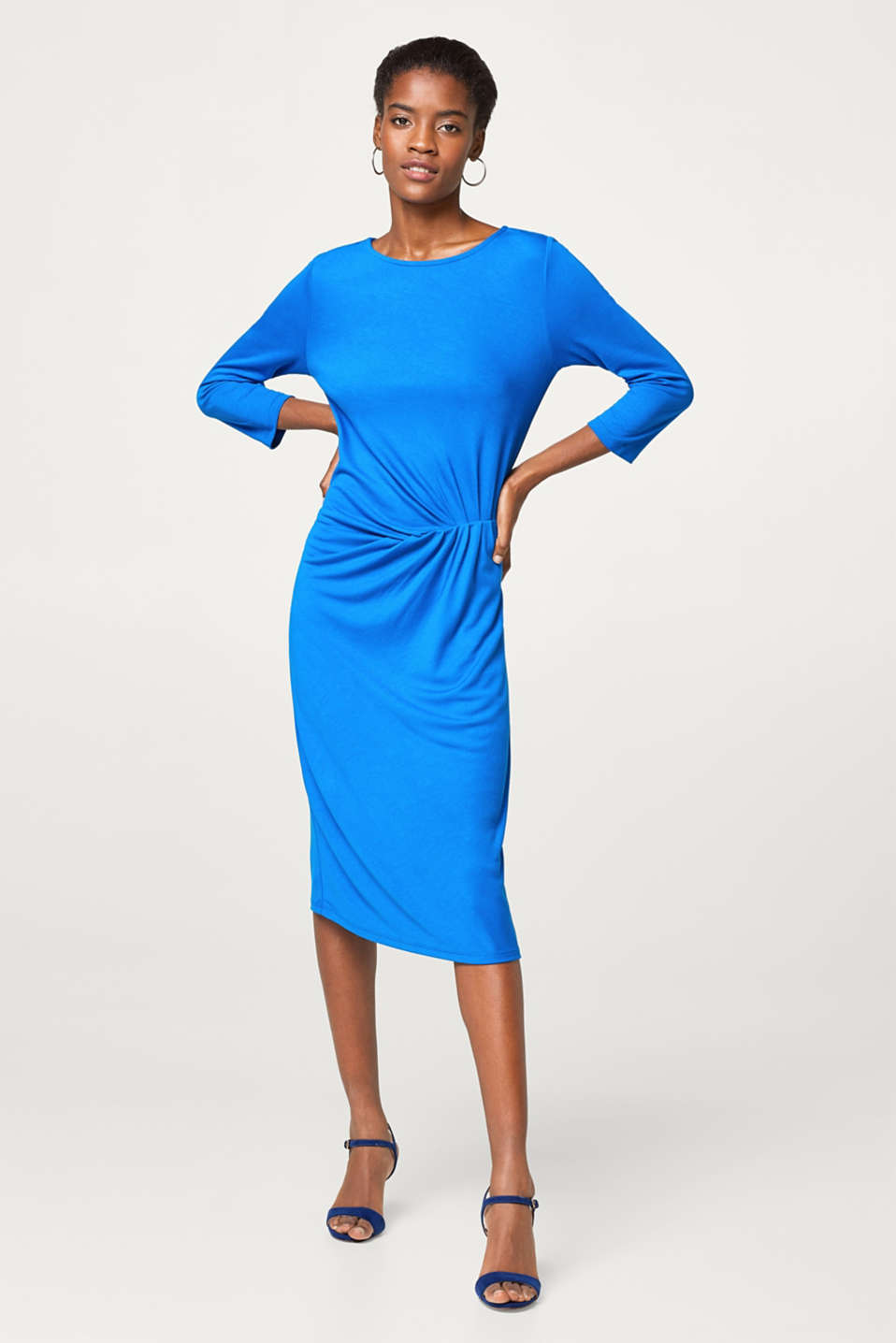 Jersey-Stretch-Kleid mit betonter Taille