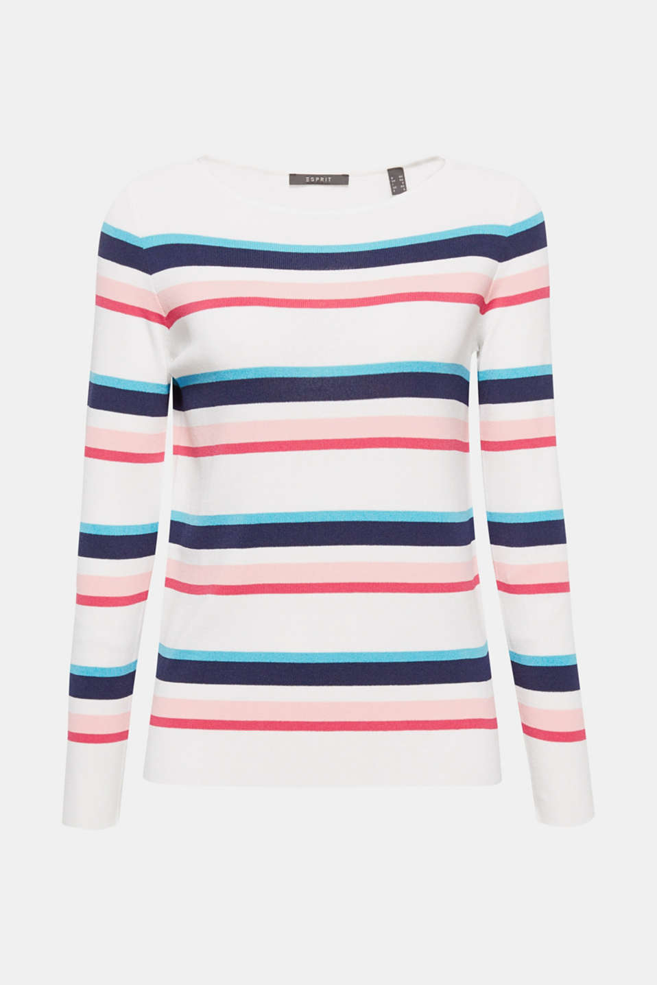 Trendy stripes, a clean cut and cool yarn – what more do you want in a spring jumper?