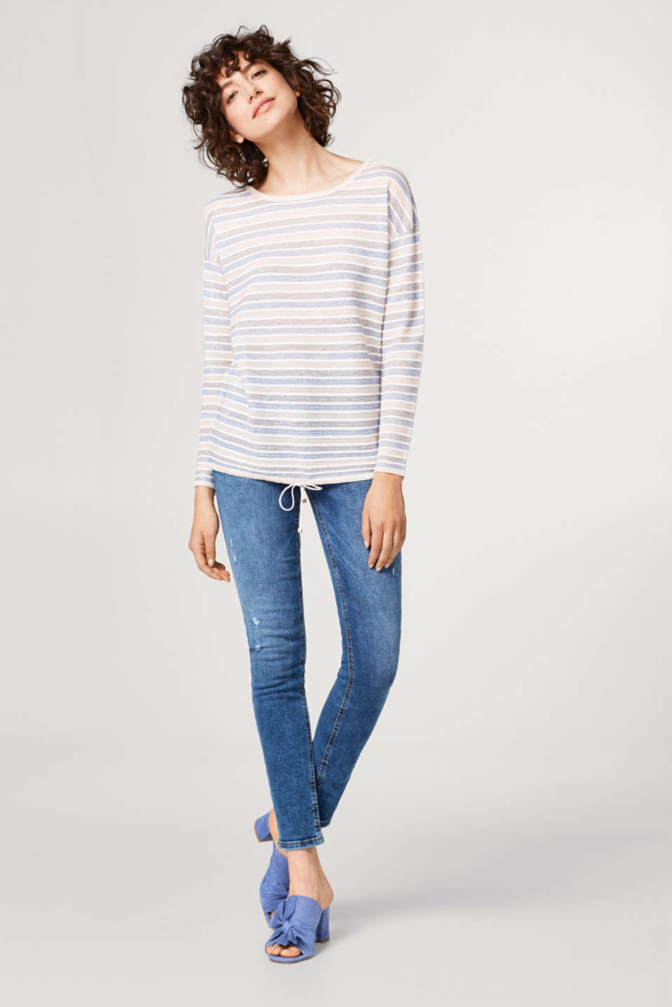 Striped sweater with a subtle shimmer