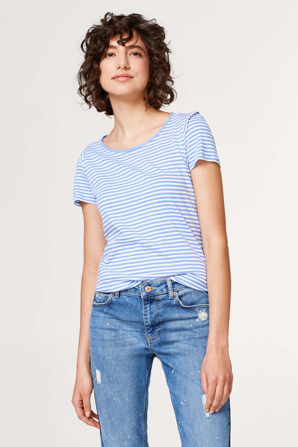 esprit baumwoll shirt mit r schen rmeln im online shop kaufen. Black Bedroom Furniture Sets. Home Design Ideas