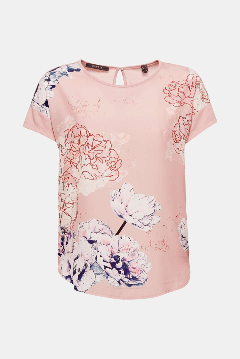 The artistic floral print and soft viscose fabric make this T-shirt absolutely fantastic for work and free time.