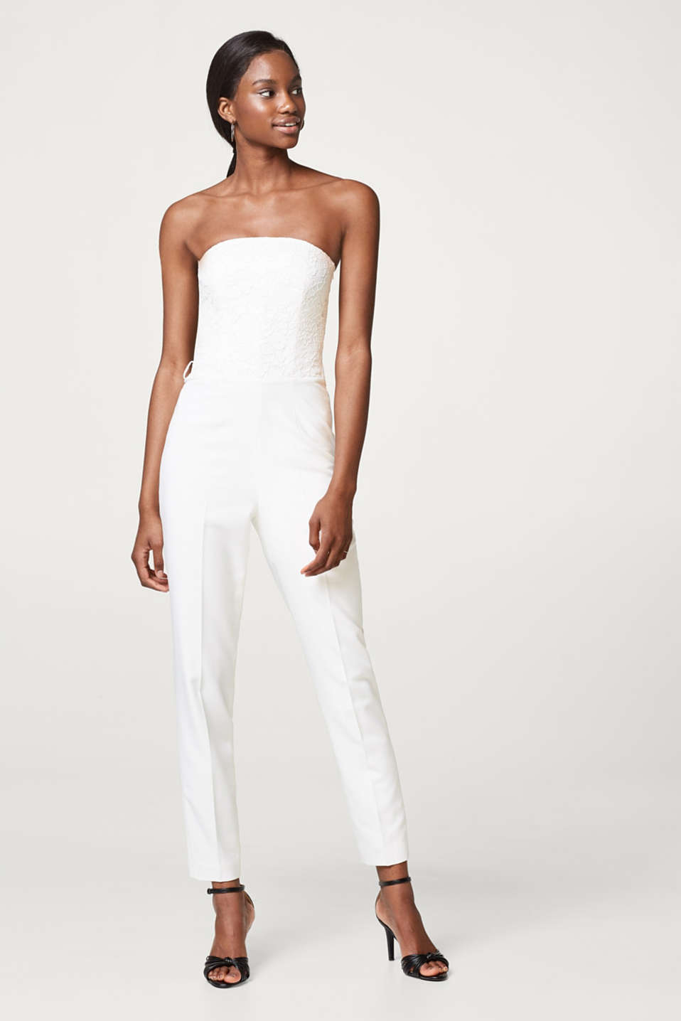 Esprit - Bridal jumpsuit with a lace bodice