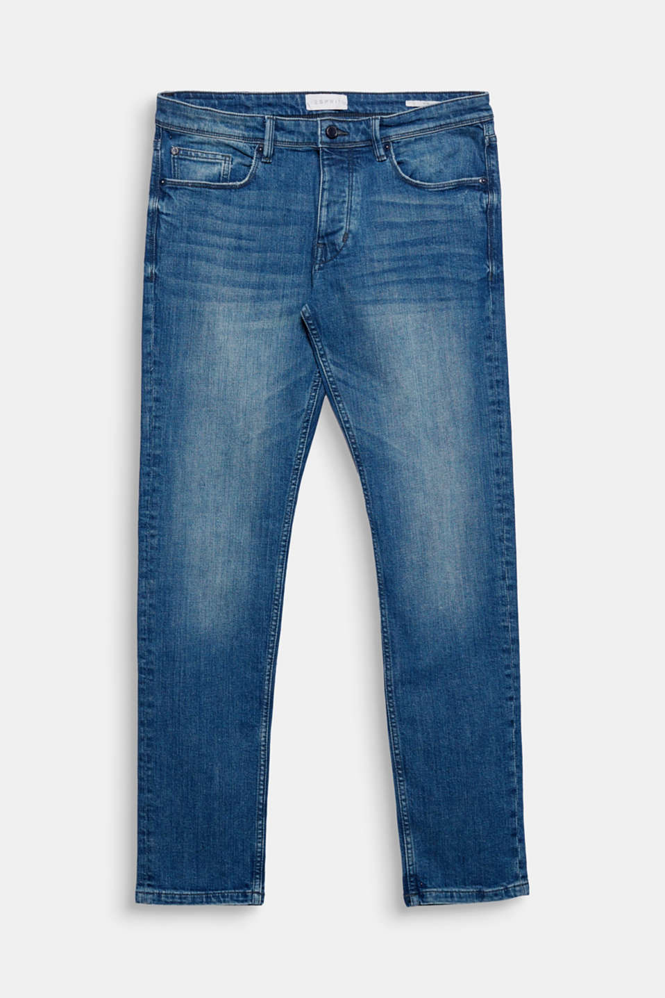 We love denim! The worn wash and lightly mottled denim give these jeans their lush look.