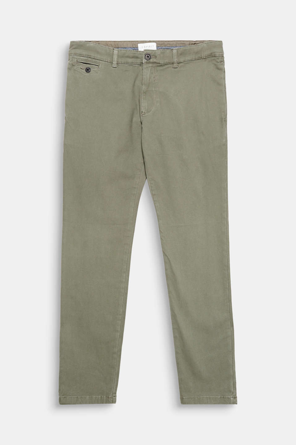 We love structure! The grainy, textured fabric gives these chinos their exciting smart-casual style