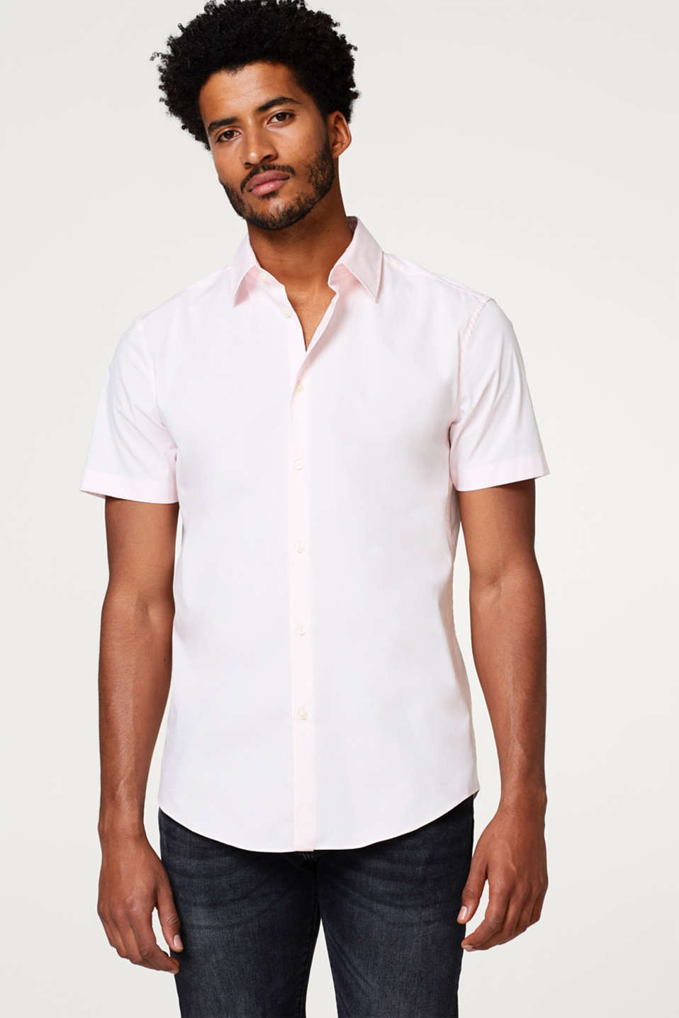 Esprit - Easy-iron short sleeve shirt in pure cotton