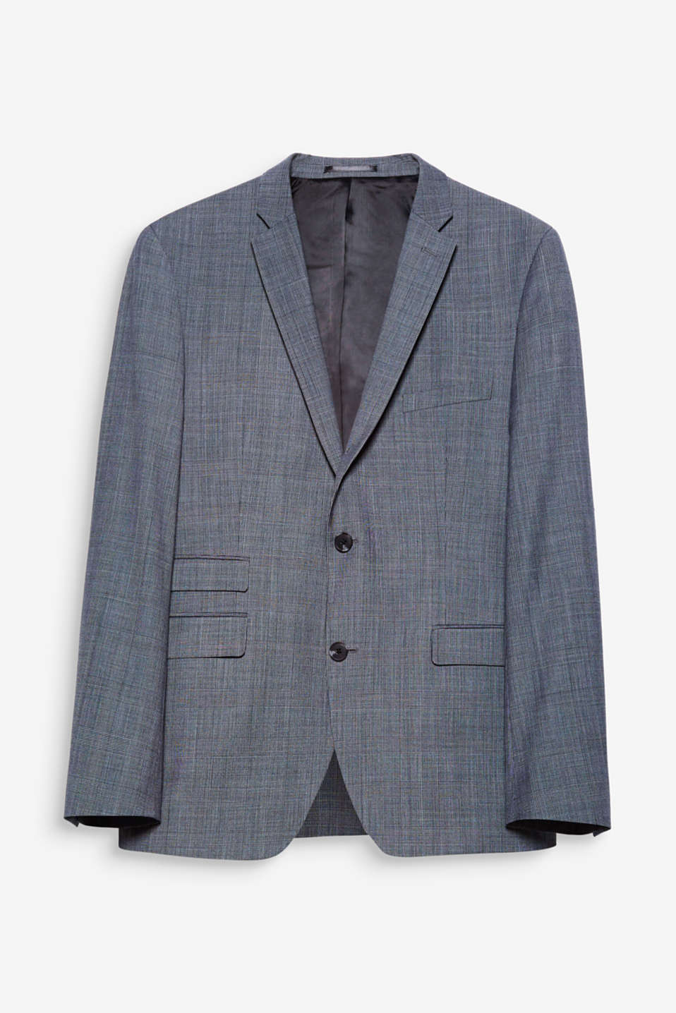 This suit jacket will turn heads thanks to its classic Prince of Wales pattern.