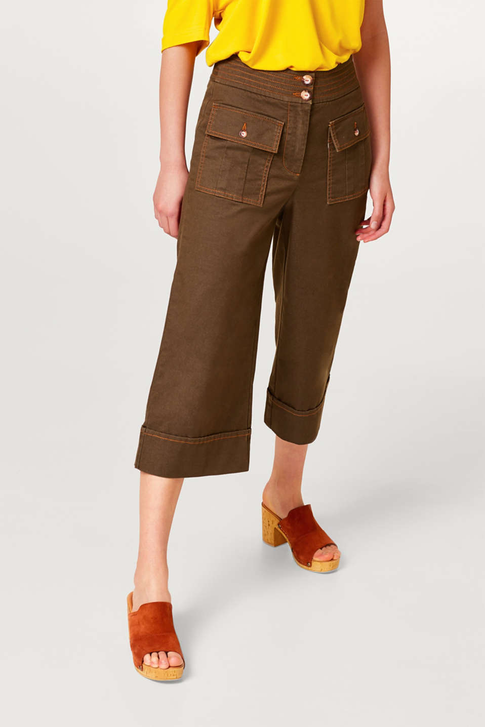 Esprit - Wide, comfy and stretchy culottes
