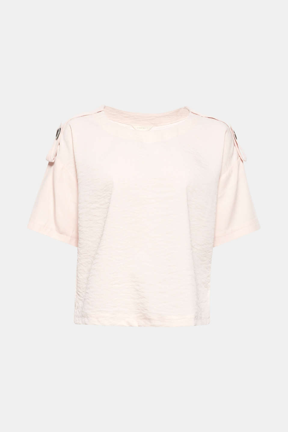 Casual, stylish, boxy! This blouse comes in an on-trend short boxy cut and features eye-catching epaulettes.
