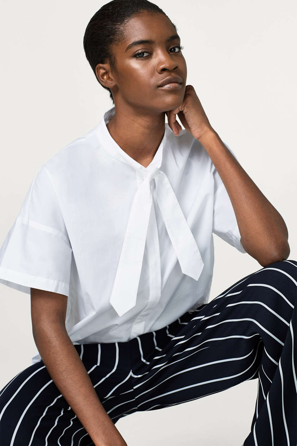 Boxy blouse made of stretch cotton