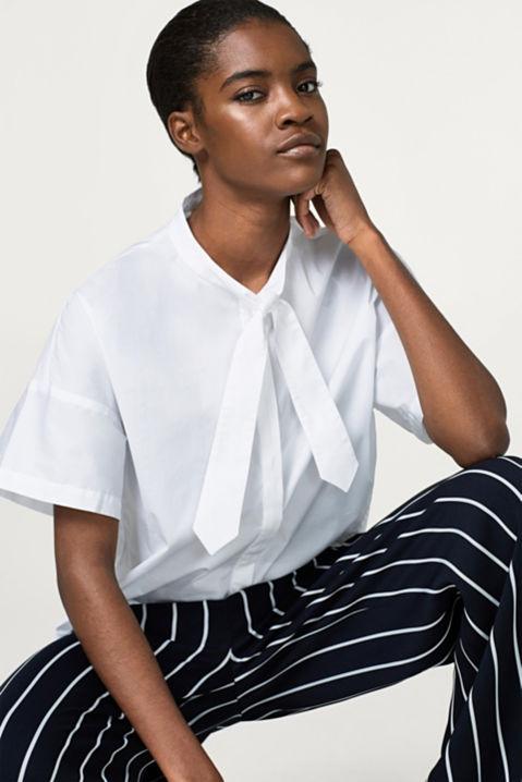 Esprit - Boxy Blusenshirt aus Baumwolle mit Stretch im Online Shop ...