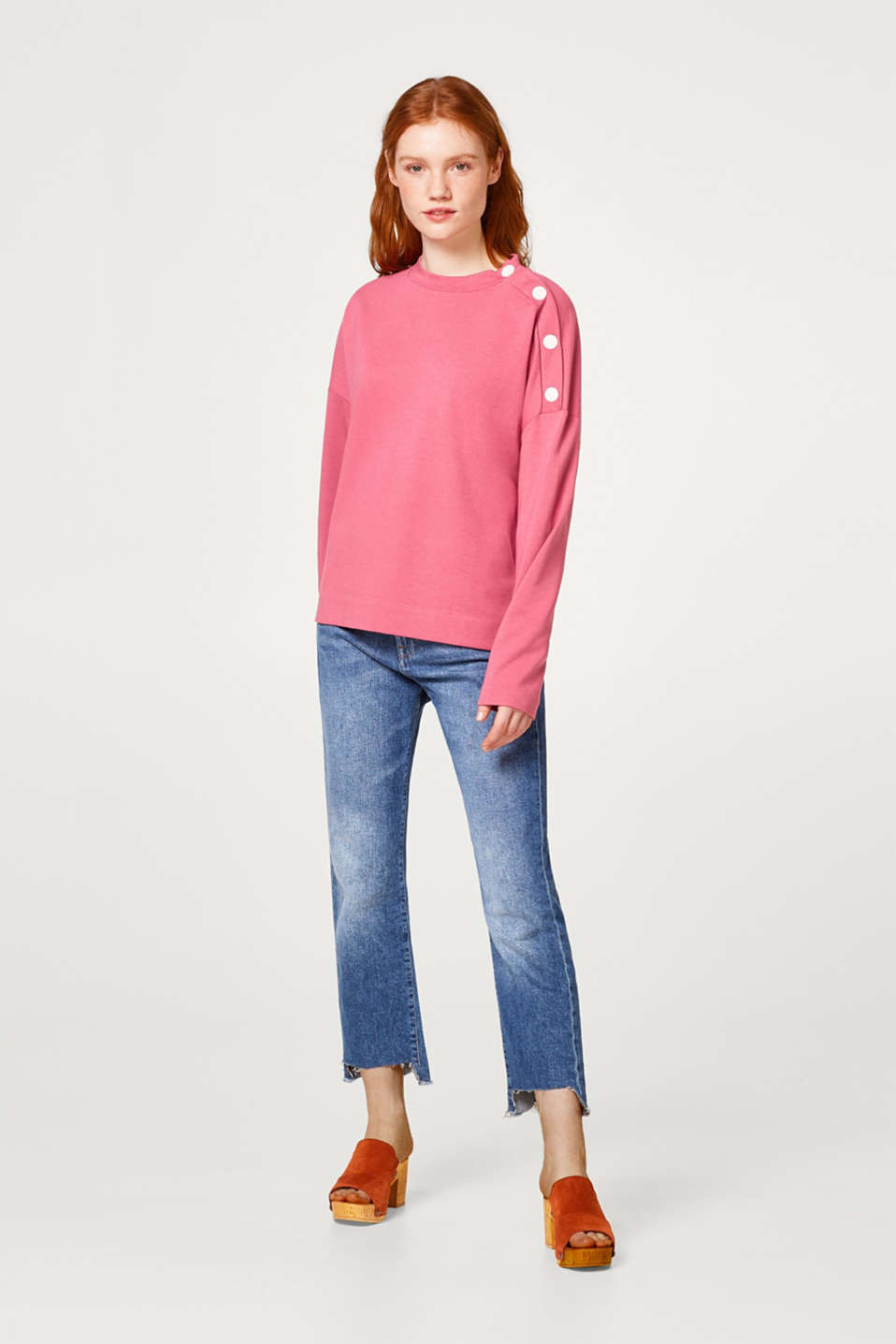 Sweatshirt with a logo print or plain coloured